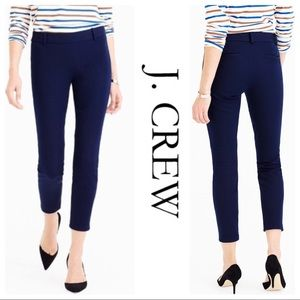 J.CREW Minnie crop pant navy blue stretch Sz 2
